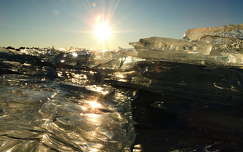 balaton tó fény jég magyarország