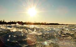 balaton tél tó fény jég magyarország