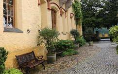 eső utáni udvar, Hohenschwangau, Németország