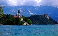 alpok tó templom szlovénia hegy bledi-tó