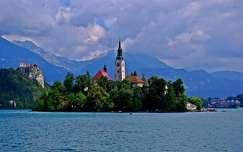 tó szlovénia alpok bledi-tó hegy