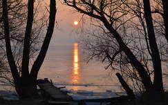 Balatonfűzfő - naplemente