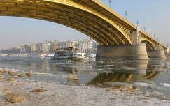 duna magyarország híd margit híd budapest tél tükröződés folyó