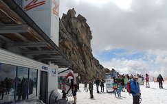 Hintertux gleccser 3250 m magas csúcsa nyáron,Ausztria