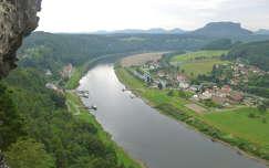 Kilátás az Elbára, Szász-Svájc