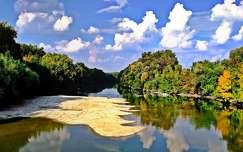 ősz tükröződés folyó