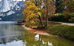 ház alpok ősz tó hegy tükröződés