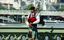 Utcai zenész. London.