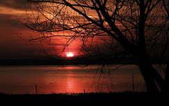 balaton naplemente tó