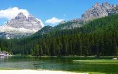 Misurina-tó és a Tre Cime di Lavaredo