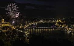 lánchíd duna magyarország éjszakai képek híd budapest folyó tüzijáték