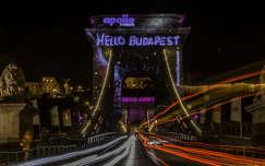 budapest éjszakai képek út lánchíd magyarország híd