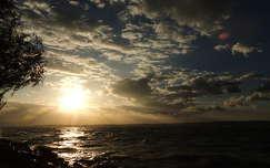 fény felhő naplemente