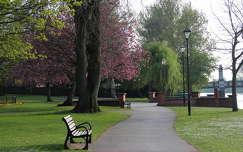 út pad kertek és parkok tavasz