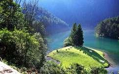 hegy tó tavasz árnyék alpok fenyő