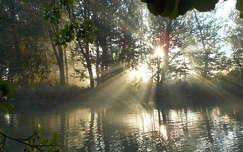 fény tavasz tó