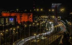 Rákóczi híd és a MÜPA este