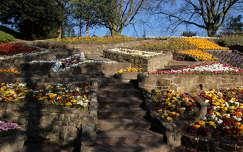 lépcső tavasz kertek és parkok