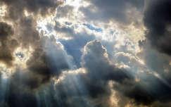 Naplemente, fényjáték, jelenség, felhők