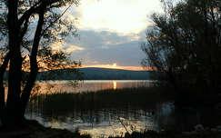 naplemente, balaton, magyarország