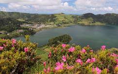 portugália rododendron tó tavasz azori-szigetek