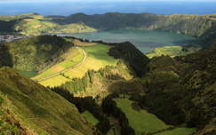 azori-szigetek portugália hegy tó