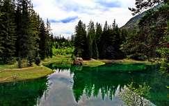 alpok hegy tükröződés tó