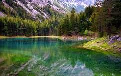 ausztria alpok hegy tavasz tó