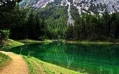 ausztria alpok hegy tó tavasz