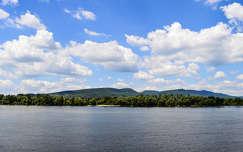 Duna, folyó, tavasz, tájkép, felhők