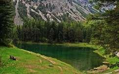 alpok ausztria pad tó nyár