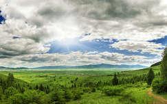 út fény felhő tavasz