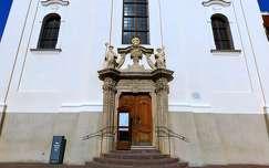 Tihany, Apátsági templom bejárata, magyarország