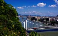 budapest duna magyarország híd erzsébet híd folyó