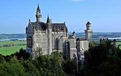várak és kastélyok neuschwanstein kastély alpok németország