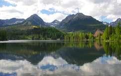 tátra csorba-tó szlovákia tó hegy tükröződés kárpátok