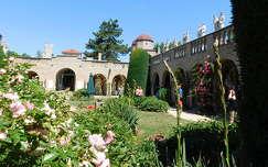 Bory-vár, Székesfehérvár, magyarország, belső udvar
