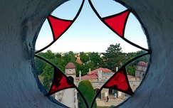 üveg ablak, Bory-vár, Székesfehérvár, magyarország