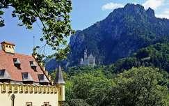 nyár várak és kastélyok neuschwanstein kastély alpok németország