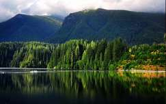 alpok nyár hegy tó tükröződés