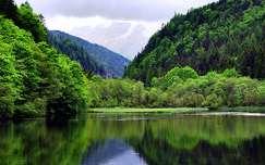 alpok tükröződés hegy tó