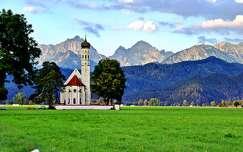 hohenschwangau hegy alpok templom
