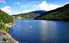 alpok öböl nyár tó