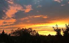 felhő naplemente