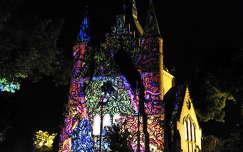 Szolnok - Református templom - fényfestés