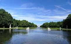 nyár kertek és parkok tó