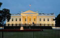 The White House by night, Washington, USA