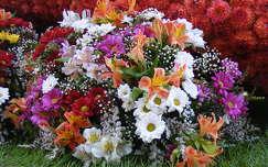 virágcsokor és dekoráció liliom frézia