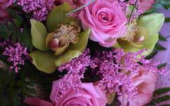 trópusi virág orchidea rózsa virágcsokor és dekoráció névnap és születésnap