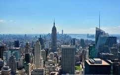 panoráma a Rockefeller Centerből, New York, USA